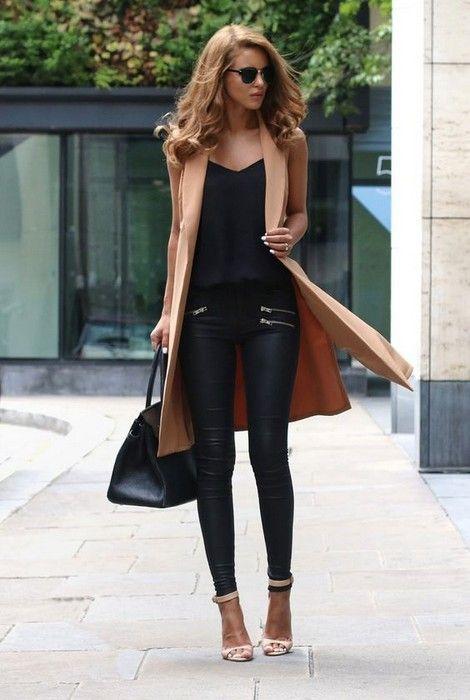 20 Looks with Long Sleeveless Vests  Blazers Glamsugar.com Sleeveless Vest