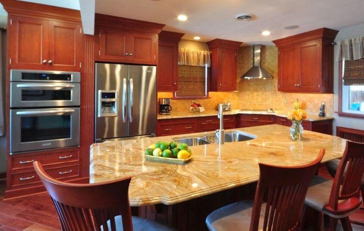 kraftmaid cherry kitchen cabinets