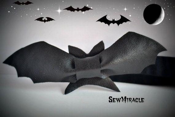 Bat Bow Tie Men's bow tie Bat design fancy bow tie by SewMiracle