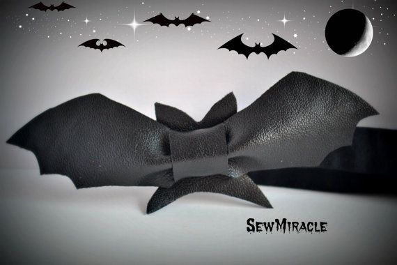 Bat Bow Tie Men's bow tie Child Bow tie Fancy bow by SewMiracle
