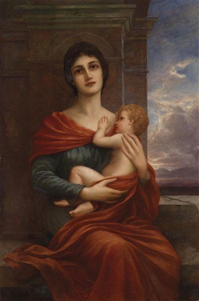 Cuno von Bodenhausen (1852 – 1931, German) - Madonna and Child