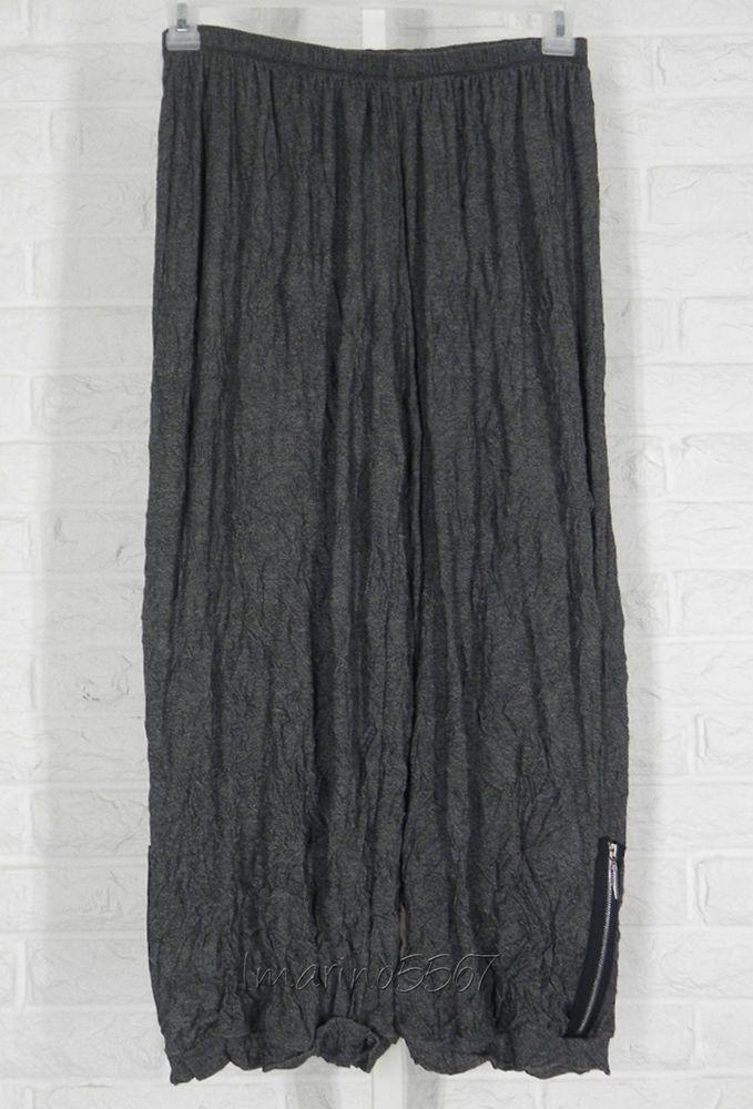 COMFY USA Adam Ankle Pants Jersey Crinkle Dark Heather Grey NWT Small Medium…