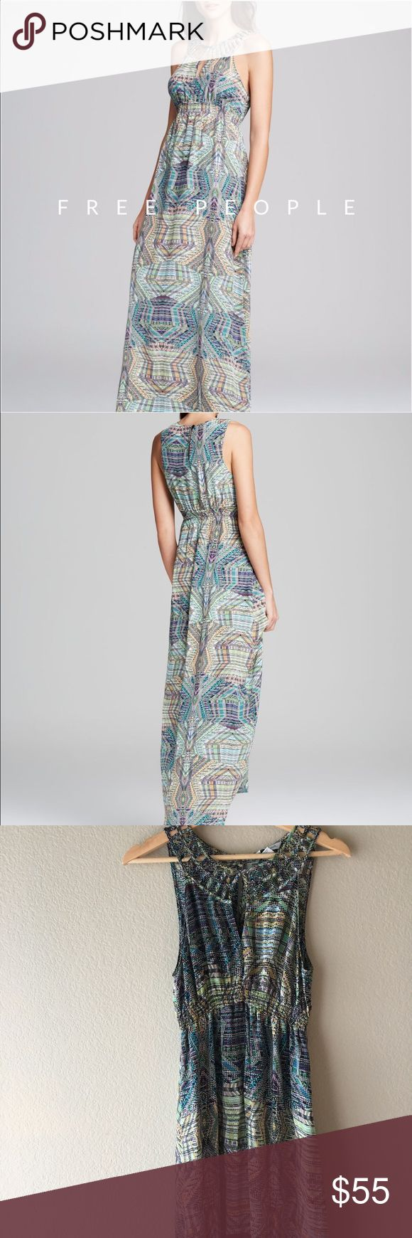 • Free People Charlie Jade Silk dress 100% silk so lightweight and beautiful. I love the simple detailing on the clavicle. Worn only once!! Stretchy elastic around the waist Free People Dresses Maxi