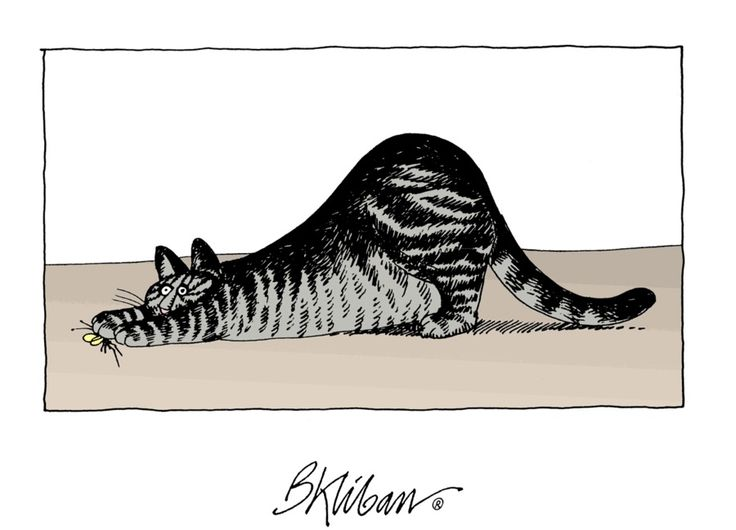 Stretching Cat by B. Kliban