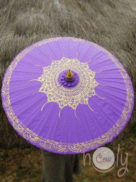 Hand Painted Purple Parasol, Purple Umbrella, Parasol, Umbrella, Parasols, Umbrellas, Wedding Parasol, Waterproof Parasol, Parasol Umbrella by HolyCowproducts on Etsy https://www.etsy.com/listing/195410620/hand-painted-purple-parasol-purple