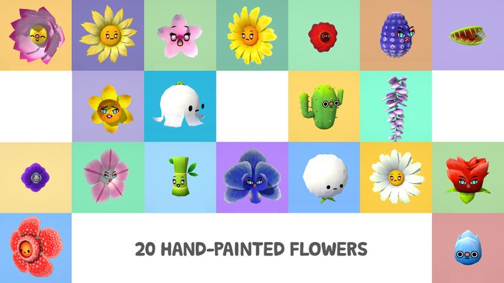 Flowers With Faces Pack on Unity Asset Store 1
