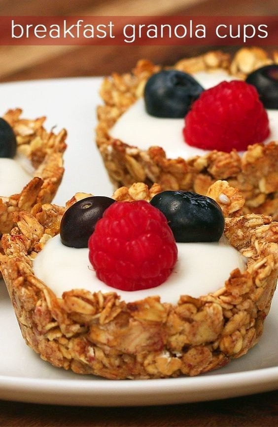 Breakfast Granola Cups | 15 Tasty And Delicious Recipes You Must Try