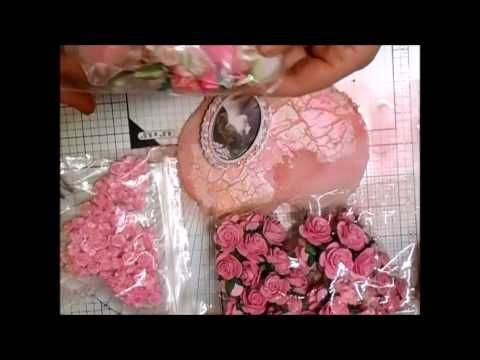 Shabby Chic Elegant Hearts Tutorial - jennings644 - YouTube