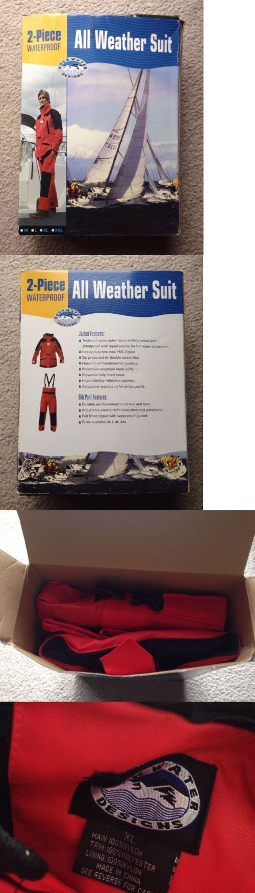 Jacket and Pants Sets 179981: (Xl) New Rockwater 2Pc All Weather Suit Rain Sleet Snow Waterproof Jacket Pants -> BUY IT NOW ONLY: $49.99 on eBay!