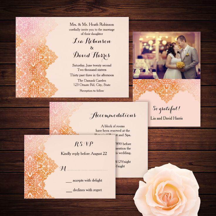 13 best muslim wedding cards images on pinterest muslim wedding marlene pattern designs blog damask ornate wedding suite wedding invitation elegant stopboris Image collections