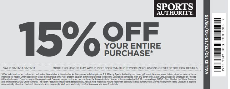 17 best sports authority coupon images on pinterest coupon sports authority coupon sports authority promo code from the coupons app off the tab at sports authority ditto online december fandeluxe Gallery