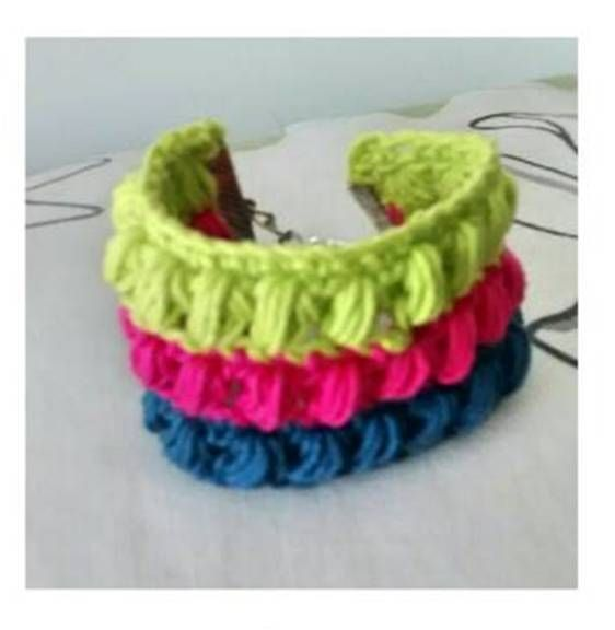 Pulsera #crochet #hechoamano #hilaza #handmade