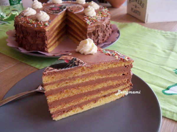 Dobos torta(dobos cukor nélkül) | Betty hobbi konyhája