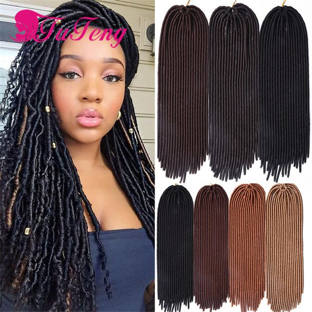 93 best 18 inch faux locs hair images on pinterest goddesses hot crochet braids faux locs hair extensions 18 inch 24 roots 100gpack soft dread pmusecretfo Image collections