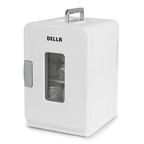 Della Portable Mini Fridge Camper RV Dorn Home Office Boat LCD Cooler and Warmer 15L White