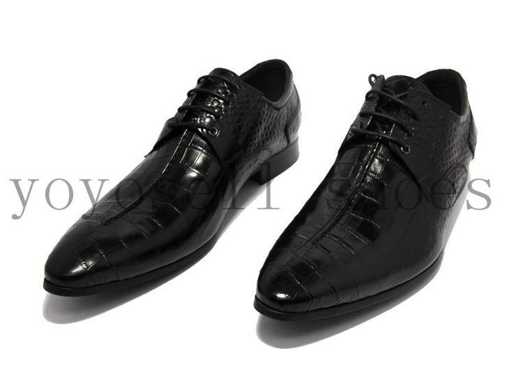 Крокодил Зерна черный/коричневый загар мужские платья обувь из натуральной кожи oxfords бизнес обувь острым носом формальные мужские свадебные туфли