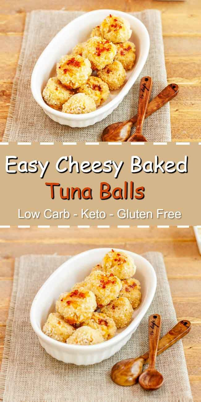 Easy Cheesy Baked Tuna Balls - Low carb, gluten free, super tasty, and primal