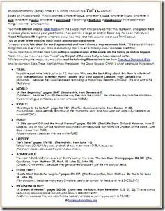 Philippians Family Bible Time #11