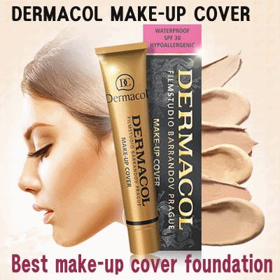 Seriously this is the best cover make-up ever. Dermacol Cover Make-up works for every skin, is waterproof and protects skin with SPF30