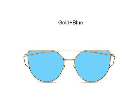 Mirrored Cat Eye Women's Fashion Sunglasses 2017 trend eyewear glasses fashion styles style cute cheap summer 2017 outfit cool trendy products shops websites buy online eyecat girl store shop for sale gold blue
