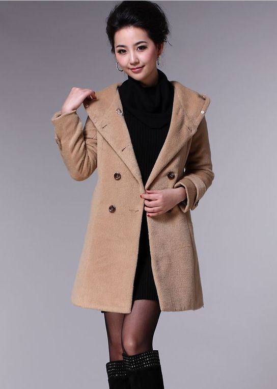 Find More Wool & Blends Information about Plus Size Women Clothing Winter  Coat Women M XXL