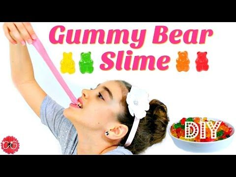 DIY GUMMY BEAR SLIME!  EDIBLE SLIME! - YouTube
