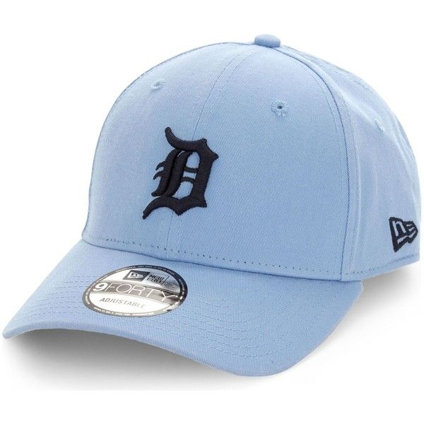New Era Detroit Tigers 9Forty cotton cap (35 AUD) ❤ liked on Polyvore featuring accessories, hats, detroit tigers hat, 5-panel hat, crown cap, embroidered hats and crown hat