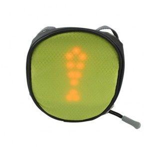 Cykel Saddel Taske Med Fjern kontrolleret LED trafik lys - Grøn