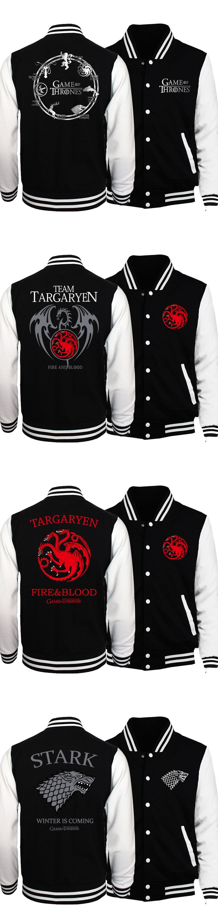 New Bomber Jacket Game of Thrones Targaryen Fire & Blood Men Jacket 2017 Spring Baseball Jackets Coat For Men Hoody Tracksuits