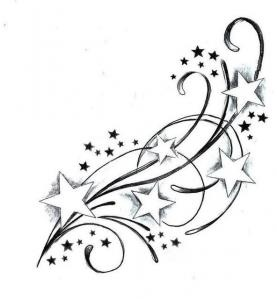 I would love to get the one on my foot added to with something like this. Maybe with butterflies instead of all the stars.