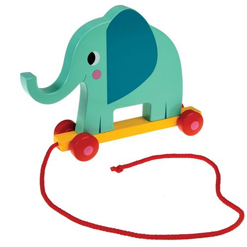 Elephant Wooden Pull Along Toy
