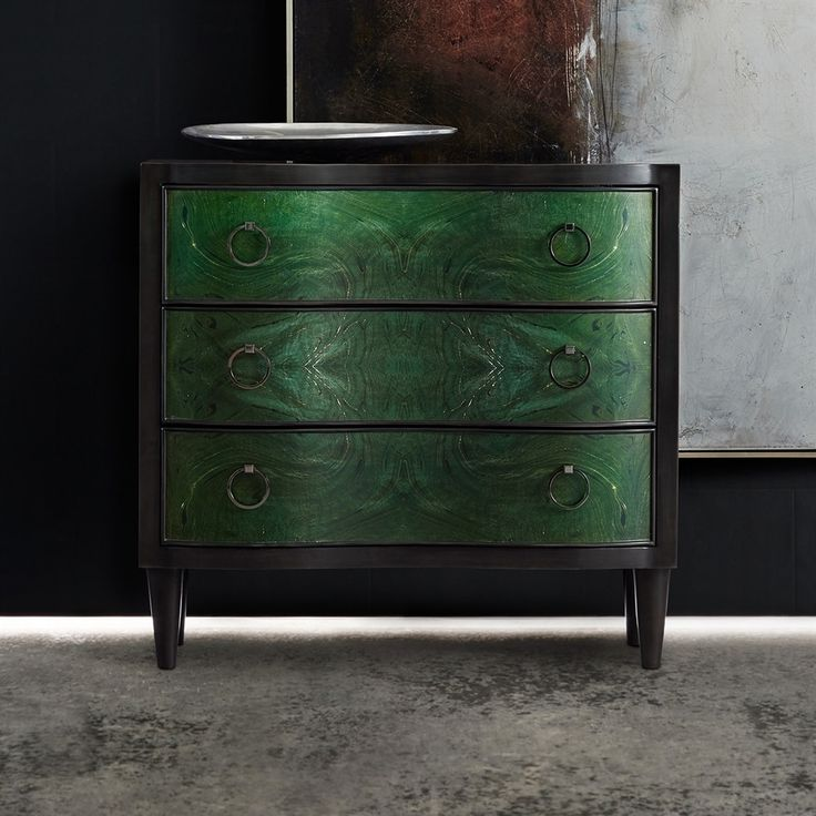 Shop Hooker Furniture  638-85318-GRN Melange Tolli 3-Drawer Chest at The Mine. Browse our accent cabinets & chests, all with free shipping and best price guaranteed.
