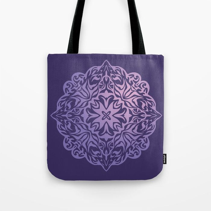 d638ce6d9f16 Buy Polynesian style tattoo mandala purple Tote Bag by annaki ...