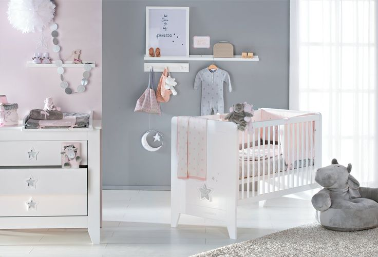 Poudre d 39 etoile rose noukies baby d coration chambre - Decoration chambre bebe etoile ...