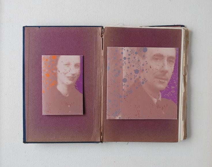 Memorial card with photo portrait www.sagastudio.nl
