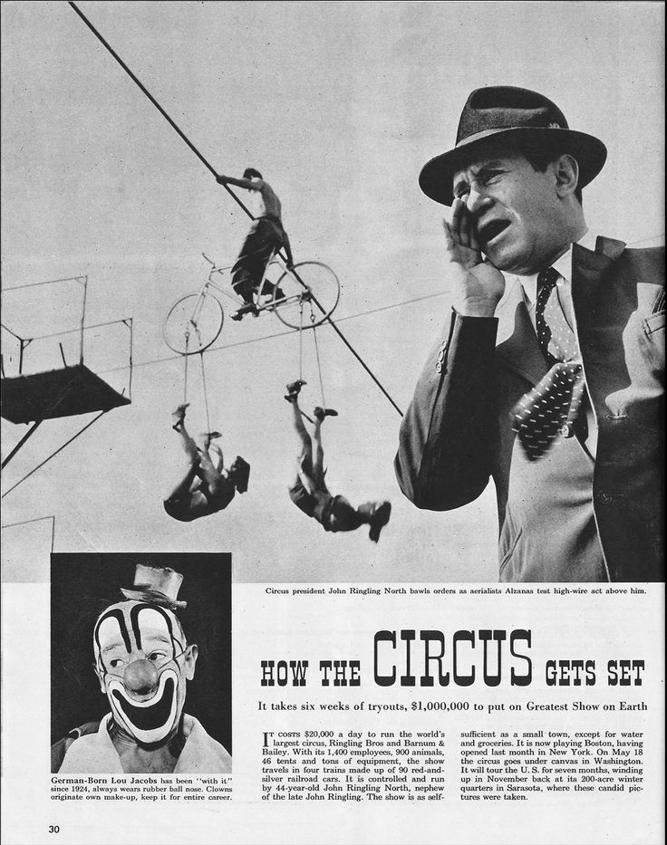 HOW THE CIRCUS GETS SET. Circus photos by Stanley Kubrick