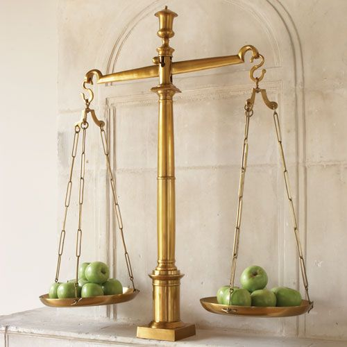 Global Views Brass Library Scales