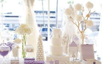 Decorazioni per il matrimonio color lavanda - Allestimento bon ton