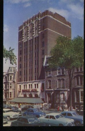 Mike Roberts Postcard, The Berkeley Hotel, Sherbrooke St West. Montreal. SC1984