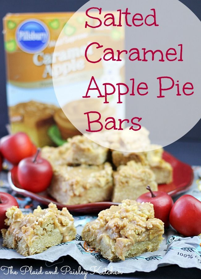 Salted Caramel Apple Pie Bars from The Plaid and Paisley Kitchen