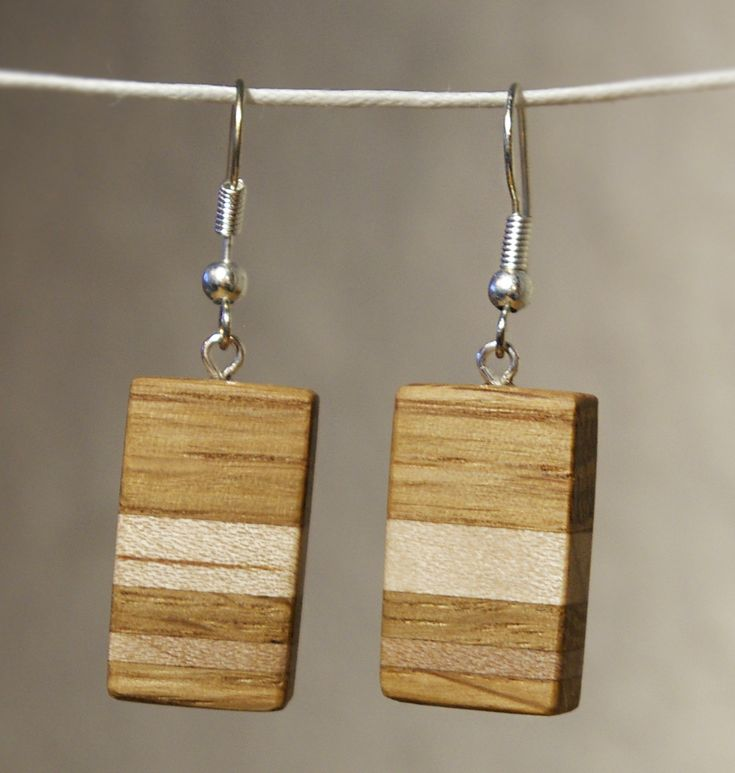 Awesome Wood Earrings with Oak and Maple. Good looking pair, versatile for formal and casual, young and older... Go see more photos and and other earring designs at the shop.