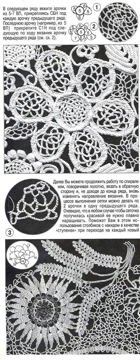 Красивая роза при помощи шнура гусенички - Модное вязание