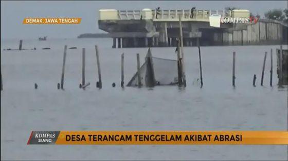 Video: Desa di Wilayah Demak Tenggelam Karena Abrasi