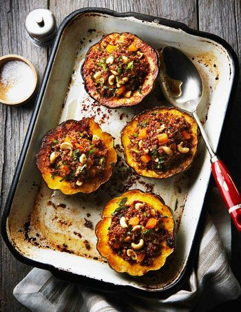 Middle Eastern Stuffed Acorn Squash