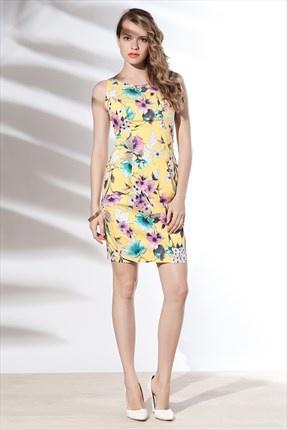 Zanzi - Sarı Zambak Elbise 4567 Trendyol da
