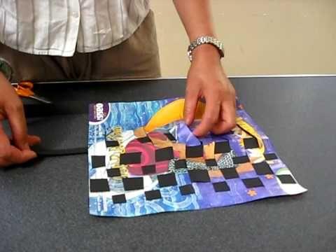 Paper weaving.