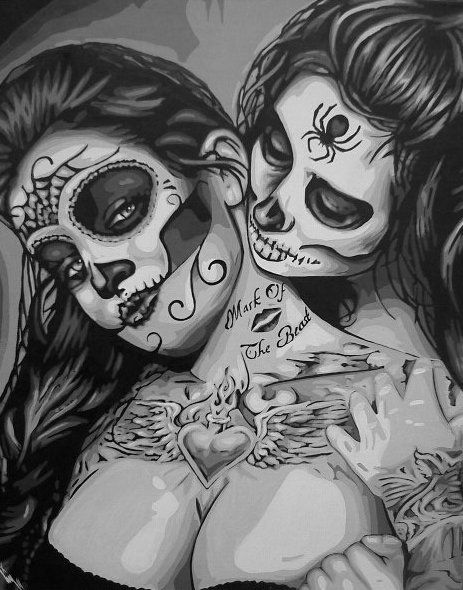 chicano-style-day-of-the-dead-girls-tattoo-tony.jpg 463×590 pixels