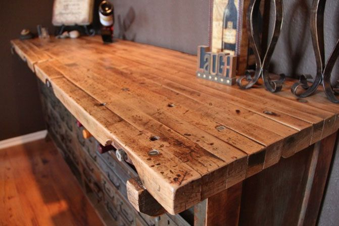 - Rustic Wood, Workbenches And Wood Dining Room Tables On Pinterest