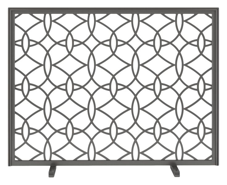 Decora Circa Fireplace Screen  MidCentury  Modern, Traditional, Transitional, Metal, Fireplace Mantels  Accessory by Urban Ironcraft
