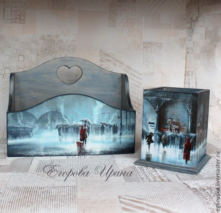 "Купить Набор ""Романтика под дождем"" - канцелярские товары, канцелярия, канцтовары, канцелярский набор, журнальница"